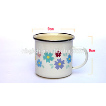 the best selling enamel cups from china with C handle