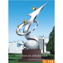 2016 Neue Edelstahl-Skulptur im Freien hohe Quanlity Architektur-Statue