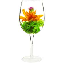 Thé de floraison rose standard de l'UE avec la fleur de lys et le thé blanc de Maofeng