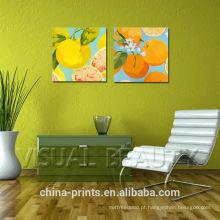 Ainda, vida, fruta, óleo, pintura, decoração
