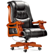 Reclining Massage Executive Genuine Leather Cowhide CEO Chair (FOHA-18#)