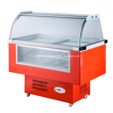 12 Flavors Small Ice Cream Display Freezer