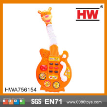 Tiger Shape Orange Toy Electric Children Guitar