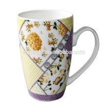 Rote Glasur-Porzellan-Keramikbecher Tasse