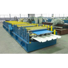 Simple double layers roll forming machinery for wall panel and roof tile
