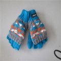 men's Knitted Jacquard Flip Top Gloves