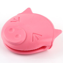 Kitchen Waterproof Pink Pig Silicone Gloves, FDA Silicone Oven Mitts
