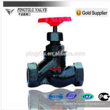 Russian grey iron pipeline control valve inside screw end non-rising stem globe valve