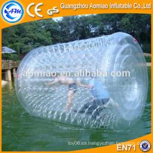 Inflable rodillo de polímero de agua jumbo bola de depósito de agua válvulas de flotador bola