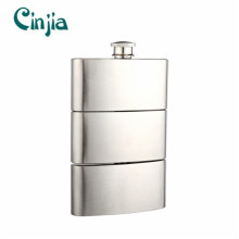 9 Oz Fashionable Stainless Steel Combined Hip Flask (XF-912)