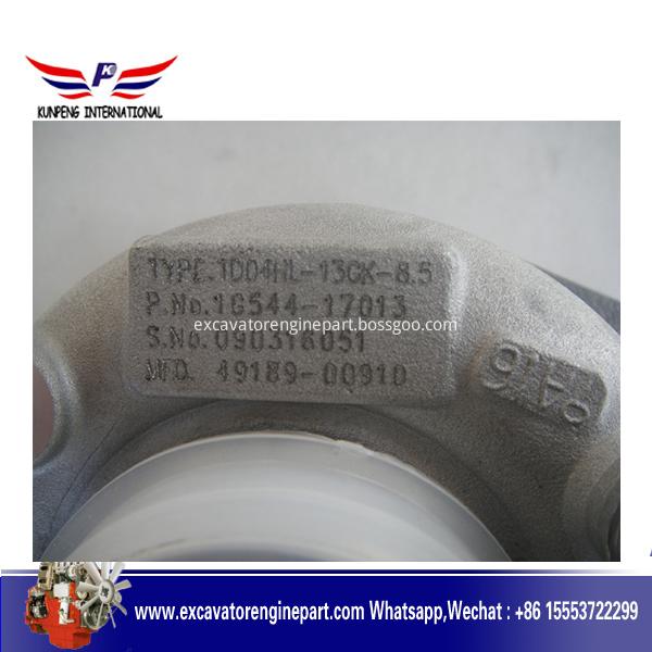 TD04HL-13GK 49189-00910 16533-17011 1G544-17013 Turbo Turbocharger For Kubota Earth Moving V3800