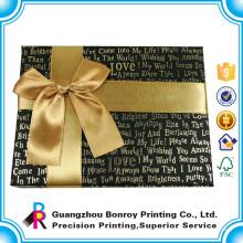 Nueva caja de papel de lujo de encargo del chocolate del diseño con el estampado caliente de oro