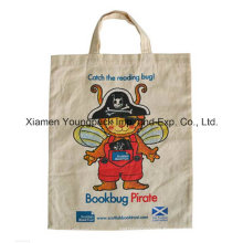Promotional Custom Logo Printed Shopper Tote Canvas Bag