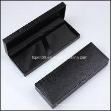 Черная пластиковая упаковочная коробка с логотипом в подарок B001
