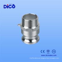 China Acero inoxidable SUS 304 SUS 316 Camlock (TIPO F)