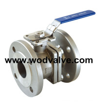 2PC Stainless Steel Flanged Ball Valve