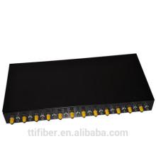 """Montagem em rack de 19 """"Montagem em rack de fibra óptica montada em rack de 24 portas ST"""