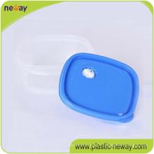 Récipient rond frais de nourriture en plastique fait sur commande frais de récipient