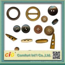 Accessoire de vêtements nouvellement conçu avec ruban bouton en métal (C02-0127)