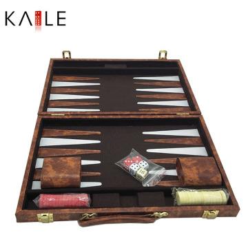 Juego de 15 pulgadas de backgammon personalizado al por mayor
