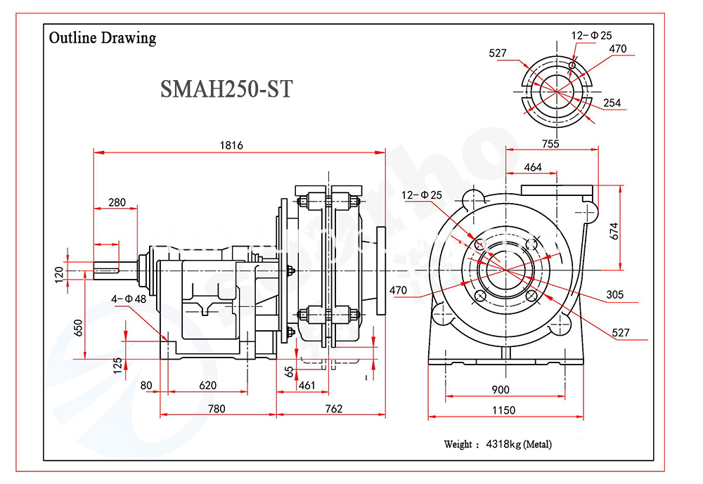 SMAH250-ST outline drawing