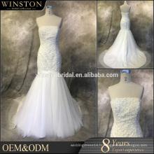 Meilleures ventes de qualité pour les robes de mariage en sirène à manches illusoires