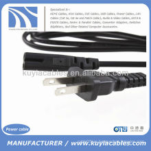 US Plug 2-Prong Port Cable de cable de alimentación para portátil Ps2 Ps3