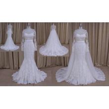 Vestido de noiva nupcial saia destacável