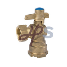 Brass Angle Type Lockable Ball Valve with Copper Handle