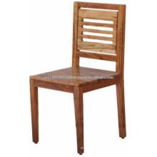 Cadeira de jantar em madeira de bloco