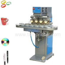 TM-C4-P 4 Color CD/Golf Cup Ball Pad Printing Machine Pad Printer with Conveyor