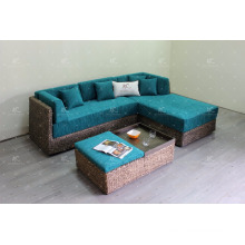 Trendy Natural Water Hyacinth Sofa Set Indoor Living Room