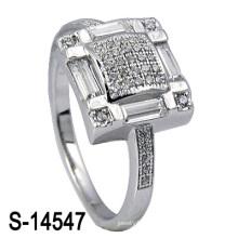 El último anillo de bodas de plata de la joyería de la manera 925 (S-14547. JPG)