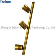 Flexible 3 Light-Head Pole Type Golden LED Cabinet Lighting (DT-ZBD-001)