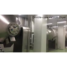 Secador industrial de doble cono de acero inoxidable