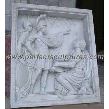 Sculpture en pierre de marbre en relief pour décoration murale (SY-R030)