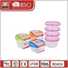 Recipiente de alimento plástico 0,75 L (4pcs)