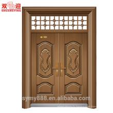 Portes en acier résidentielles extérieures en acier et cadres Chine fabrication