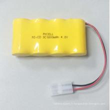 Pkcell 4.8V 1800mah Rechargeable NI-CD SC Pack de batterie pour la vente en gros