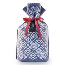 Bolsa de pie de regalo navideño de color azul marino