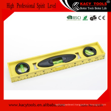 Plastic I-Beam Torpedo Water Spirit Bubble Level Ruler, measure tool