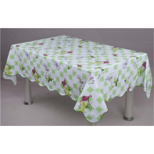 High Quality LFGB Cheap Nonwoven Backing Plastic PVC Tablecloth (JF0023)