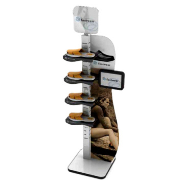 Custom Brand Name Footwear Display Stand