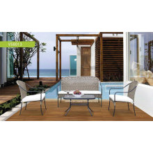 Outdoor Patio Stahl Profil Rattan Garten Set