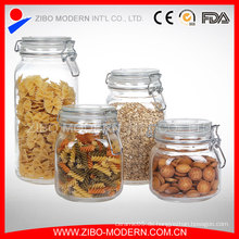 Clear Glass Candy Jar Set 4 Glas Cookie Gläser Großhandel mit Deckel