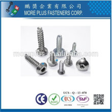Taiwan Stainless Steel 18-8 Chrome Plated Steel Copper Brass Aluminum Plastite Trilobular Thread Forming Screw