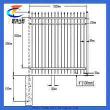 Clôture de palissade en acier galvanisé plongé de qualité supérieure à vendre