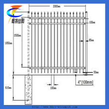 Qualidade superior de aço galvanizado mergulhado quente paliçada esgrima para venda