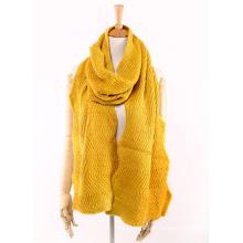 Écharpe lourde tricotée inégale de tricot de vague chaude d'hiver unisexe des femmes (SK160)