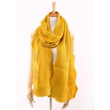 Зимние женские теплые унисекс волна неровная Вязание тяжелый вязаный шарф (SK160)
